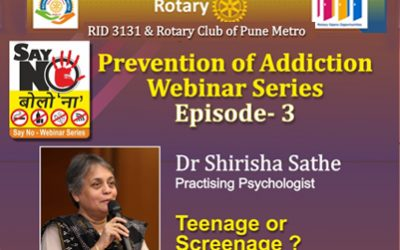 Episode 3 of Webinar Series on Prevention of Addiction 14th October 2020