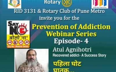 Episode 4 of Web Series on Prevention of Addiction, 6th November 2020